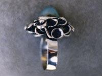 Увеличить изображение амулета | Кольцо женское, серебро или мельхиор с нефритом
