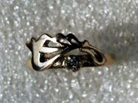 Увеличить изображение амулета | Кольцо, серебро с цирконом