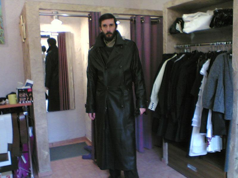 Плащ кожаный KRAKEN | Купить мужской плащ